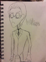 William T Spears in Tim Burton style by doctorwhooves253