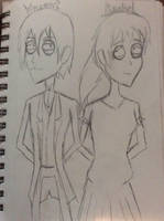 Vincent and Rachel in Tim Burton style by doctorwhooves253