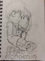 Izuku Midoriya and Ochaco Uraraka by doctorwhooves253