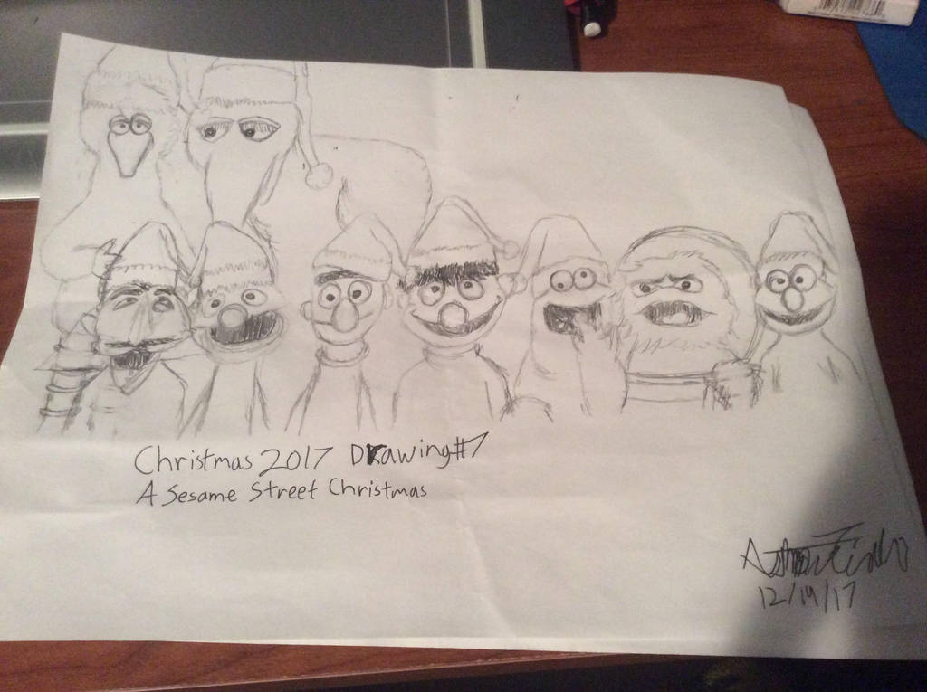 Christmas 2017 Drawing #7: Sesame Street by doctorwhooves253
