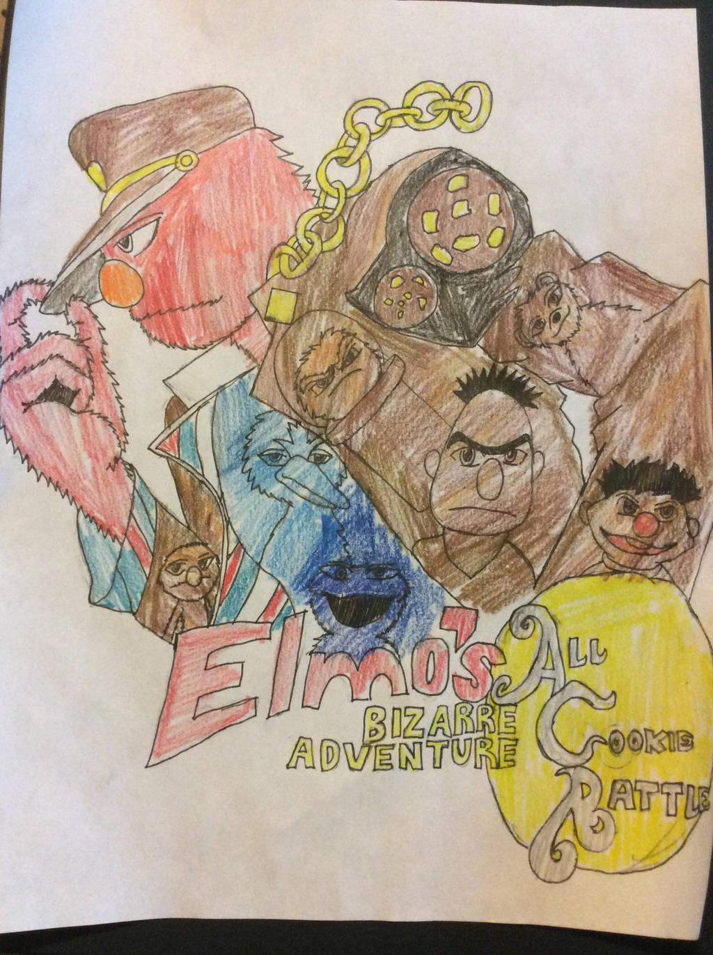 Elmos Bizarre Adventure by doctorwhooves253