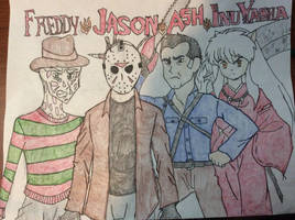 Freddy vs Jason vs Ash vs Inuyasha by doctorwhooves253