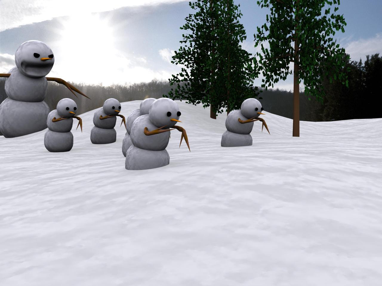 Calvin's Snowman by HalogeN09