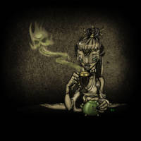 Priestess in the Pub by pyromancy