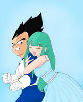 Bulma and Vegeta by Asami0