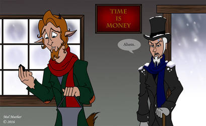 Cratchit and Scrooge by unicorn-skydancer08