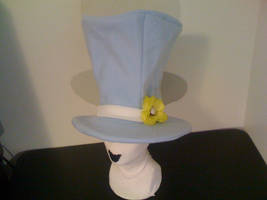TOP HAT Blue with Flower by tacksidermia