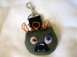 ZOMBIE Backpack Baddie Clip On by tacksidermia