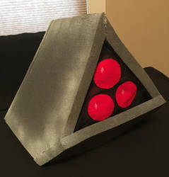 Space Harrier Pyramid Robot Hat by tacksidermia