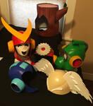 Mega Man 2 Helmet Set by tacksidermia
