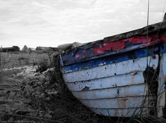 Abandoned boat by KokoPhotography