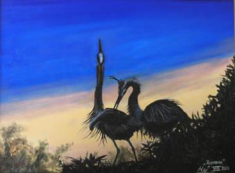 Cranes by VeronikaDark
