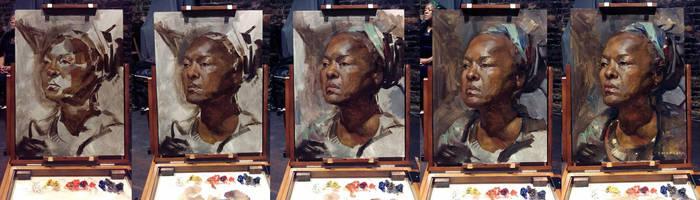Gloria Portrait Process by sheppardarts