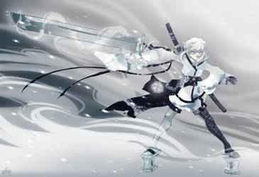White Swordmaster by Atomik-Goku