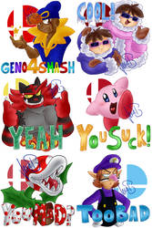 Smash Bros Ultimate Stickers by Genolover