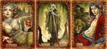 The Underworld: Persephone, Charon, Hades by BohemianWeasel