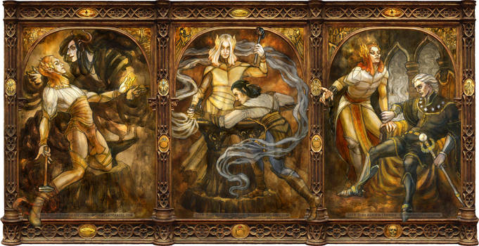 Sauron triptych by BohemianWeasel