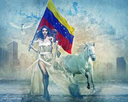 JUSTICIA, LIBERTAD Y PAZ VENEZUELA by Capricuario