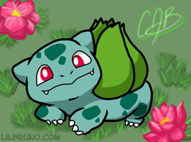 Spike the Bulbasaur! by LilBruno