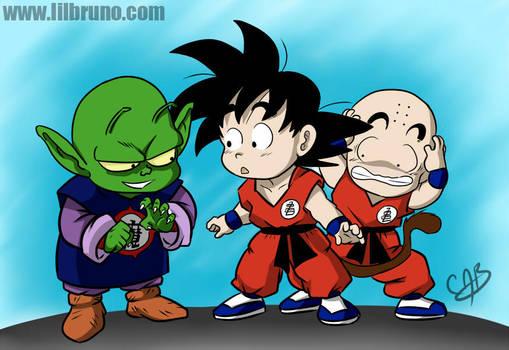 DB - Goku, Krillin and Piccolo Jr. by LilBruno