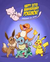 Pokemon 20th Anniversary by LilBruno