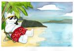 Watercolor 05: Polarbear Beach by LilBruno