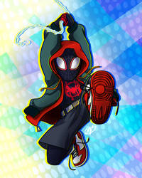 Miles Into the Spider-verse by LilBruno