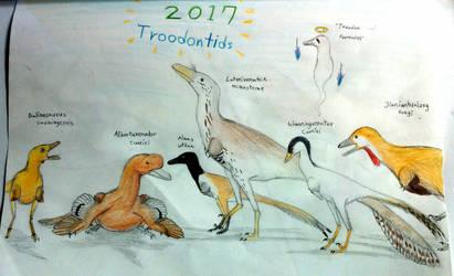 2017 Troodontids! by Tupandactyl