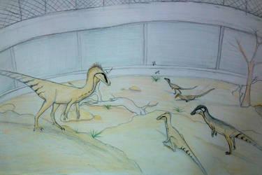 Eoraptor enclosure by Tupandactyl