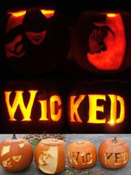 Wicked jack-o-lanterns by eldi13