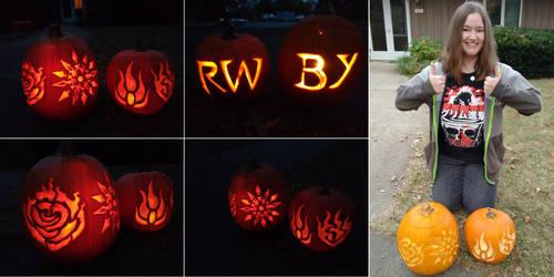 RWBY pumpkins! by eldi13