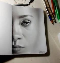 Parcial face: sketchbook. by diogenesdantas