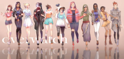 Overwatch Girls Casual Outfits by sleepcross