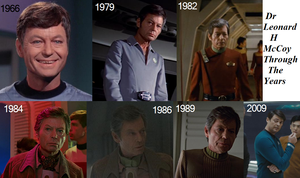 Leonard H McCoy through the Years by TheDreamLover