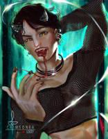 Uxry Demon [Commission] by Crimsonea