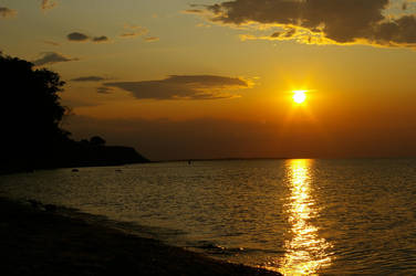sunset at the beach 2 by Katti1996