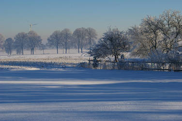 Winter landscape by Katti1996
