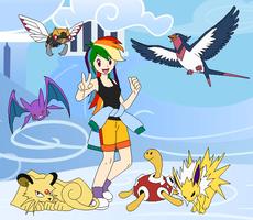 Rainbow Dash's Pokemon Team by SelenaEde