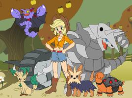 Applejack's Pokemon Team by SelenaEde