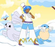 Los Pegasus Gym Leader Sapphire Shores by SelenaEde