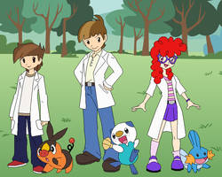 Pokemon Trainers - CMC Friends by SelenaEde