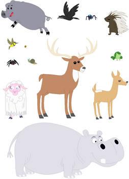Animal Base Set 05 by SelenaEde