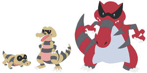 Sandile, Krokorok and Krookodile Base by SelenaEde