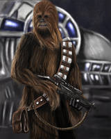 Chewbacca-Star Wars by mark1up