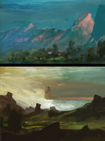 Environment Sketches by ScottPellico