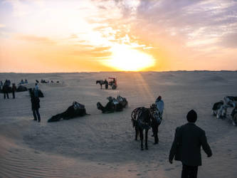 The Sahara desert southern Tunisia by kingtobbe