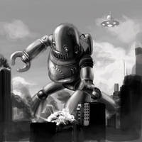 retro robot from outer space by justsantiago