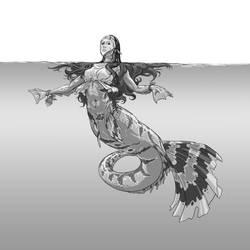 Monster Girl Challenge 19 - Mermaid by justsantiago