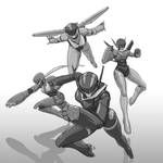 Fanart 05 Knight Sabers (Bubblegum Crisis 2040) by justsantiago