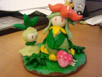 Lilligant and Petilil figure by SakiTachibana